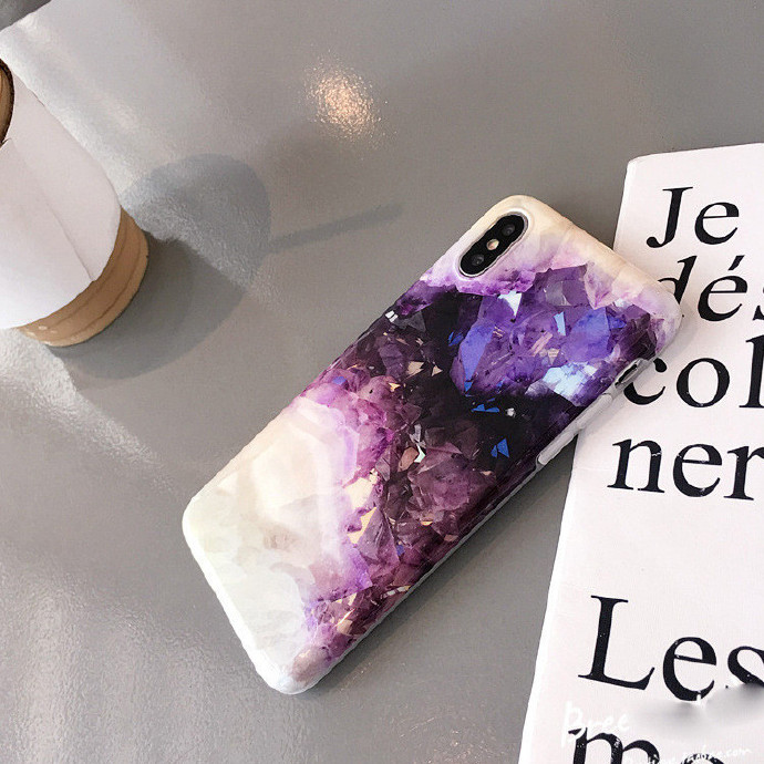 Amethyst Rubber Shockproof Case For iPhone 7/7P/8/8P/X/XS