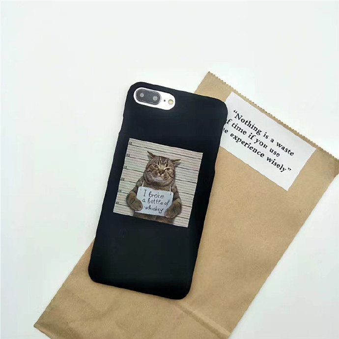 CAT Shell Hard Plastic PC Ultra Thin Mobile Phone Cover Case For iPhone 7/7P/8/8P/X/XS