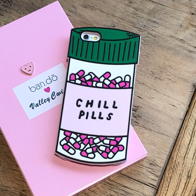 CHILL PILLS Liquid Silicone Rubber Shockproof Case For iPhone 7/7P/8/8P/X/XS