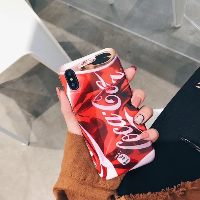 Cocacola Liquid Silicone Rubber Shockproof Case For iPhone 7/7P/8/8P/X/XS