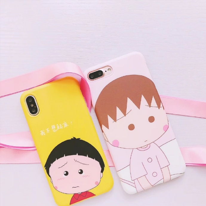 Cute Girl Liquid Silicone Rubber Shockproof Case For iPhone 7/7P/8/8P/X/XS