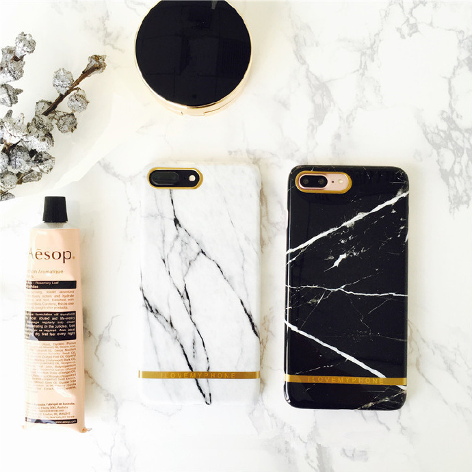 Marble Liquid Silicone Rubber Shockproof Case For iPhone 7/7P/8/8P/X/XS