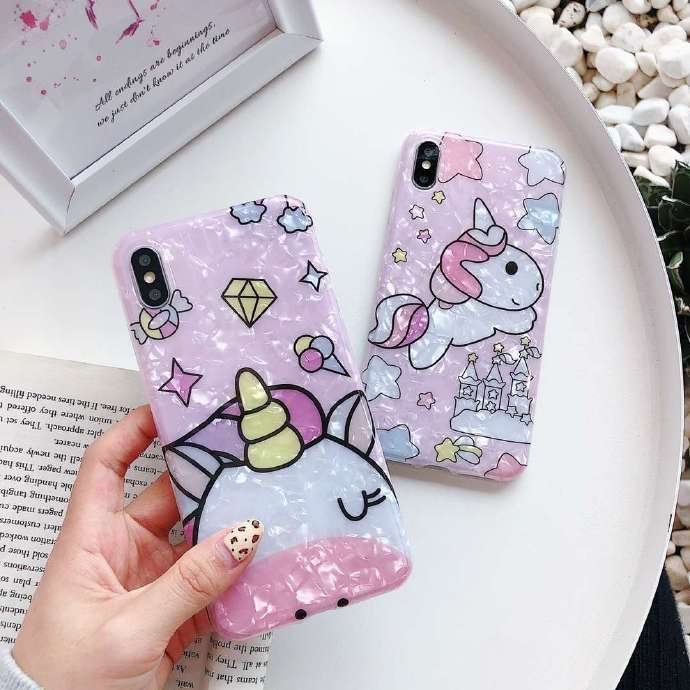 Cute Unicorn Liquid Silicone Rubber Shockproof Case For iPhone 7/7P/8/8P/X/XS/XR