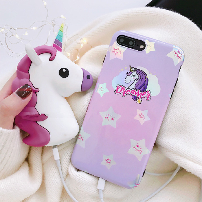 Unicorn Liquid Silicone Rubber Shockproof Case For iPhone 7/7P/8/8P/X/XS